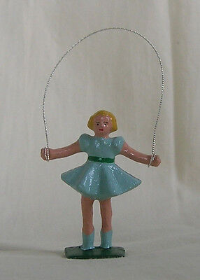 Little Girl Jumping Rope, Standard Gauge train layout figure, New/Reproduction