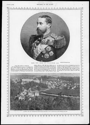 1893 Antique Print - LONDON ROYAL WEDDING DUKE EDINBURGH SIGMARINGEN (192)