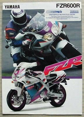 YAMAHA FZR600R MOTORCYCLE Sales Specification Leaflet c1994 #LIT-3MC-0107022-94E