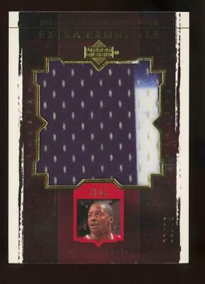 2003 Upper Deck Extra Exquisite Steve Francis 69/75 Game Worn Jumbo Patch