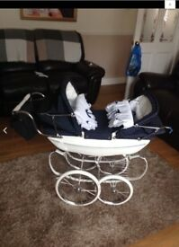 Silver cross dolls pram twin limited edition rare fab!!