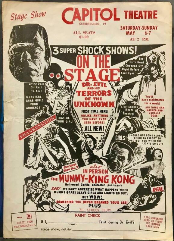 Dr. Evil and his Terrors of the Unknown Spook Show Original King Kong Mummy Rare