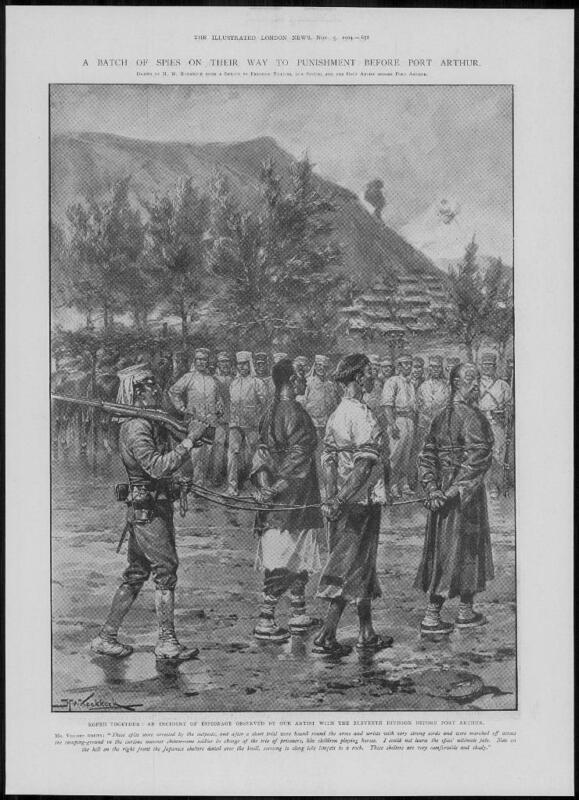 1904 Antique Print - PORT ARTHUR JAPANESE Army Espionage Captured Spies (284)