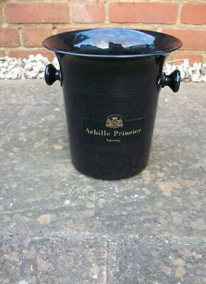 "Rare VINTAGE RETRO ""ACHILLE PRINCIER"" EPERNAY CHAMPAGNE ICE BUCKET / Wine COOLER"
