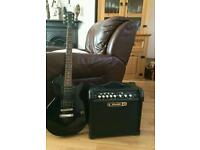 Good guitar and amp for sale