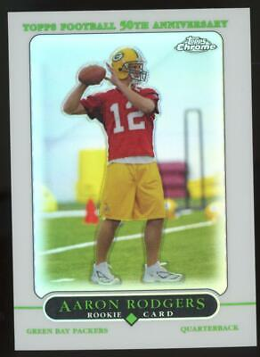 2005 Topps Chrome Refractor #190 Aaron Rodgers RC Rookie