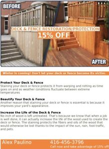 Fence & Deck WeatherProof Staining Before Winter Weather