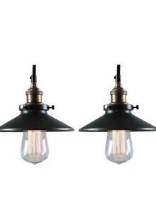 x2 BRAND NEW Industrial Pendant Lights