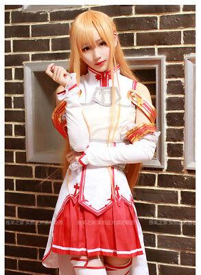 Sword Art Online Yūki Asuna Yuuki Asuna Battle Dress Outfit Cosplay Costume Set