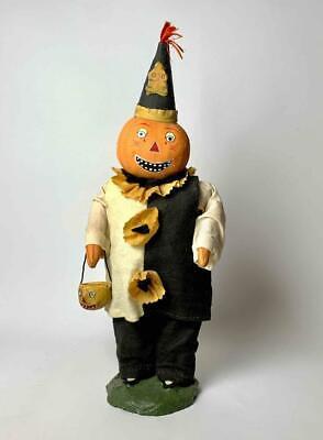 """Vintage Bethany Lowe Halloween Pumpkin Clown Figure 12"""" Retired"""