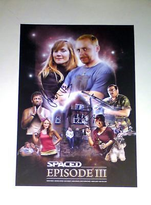 """SPACED EPISODE 3 CAST X2 PP SIGNED POSTER 12""""X8"""" N2"""