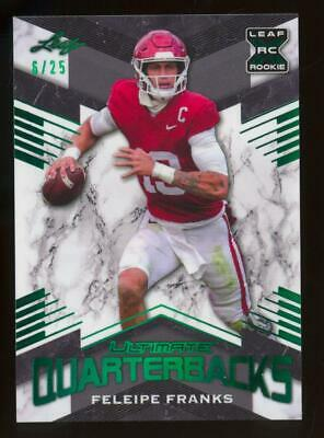 2021 Leaf XRC Ultimate Quarterbacks Green Feleipe Franks 6/25 RC Rookie