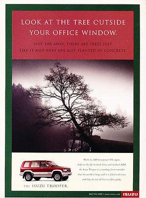 1997 Isuzu Trooper - Red SUV - Classic Vintage Advertisement Ad H41