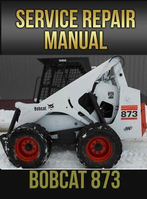 Bobcat 873 Skid Steer Service Repair Manual 6900382 On Usb Drive