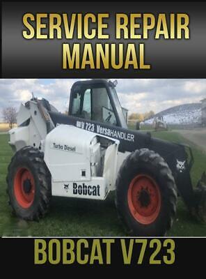 Bobcat V723 Versahandler Workshop Repair Service Manual 6902760 Usb