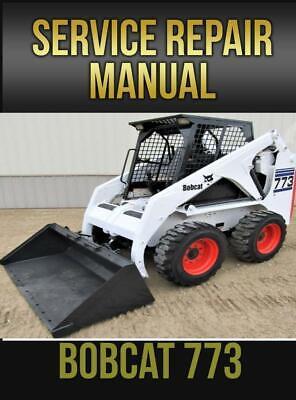 Bobcat 773 Skid Steer Loader Workshop Service Manual 6900092 Usb Drive