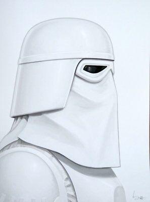 11x17 signed by artist Scott Harben Star Wars Snow Trooper Original Art Print