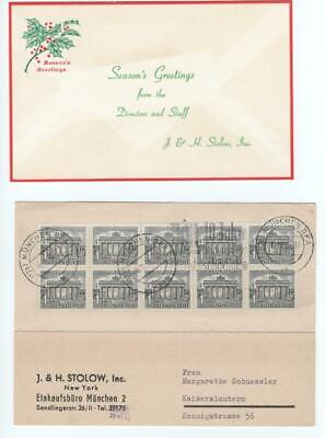 Two pieces, Stamp dealers J & H Stolow, 1956 & c. 1970