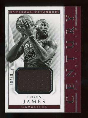 2017 National Treasures Century Game Worn LeBron James 69/99 Jersey