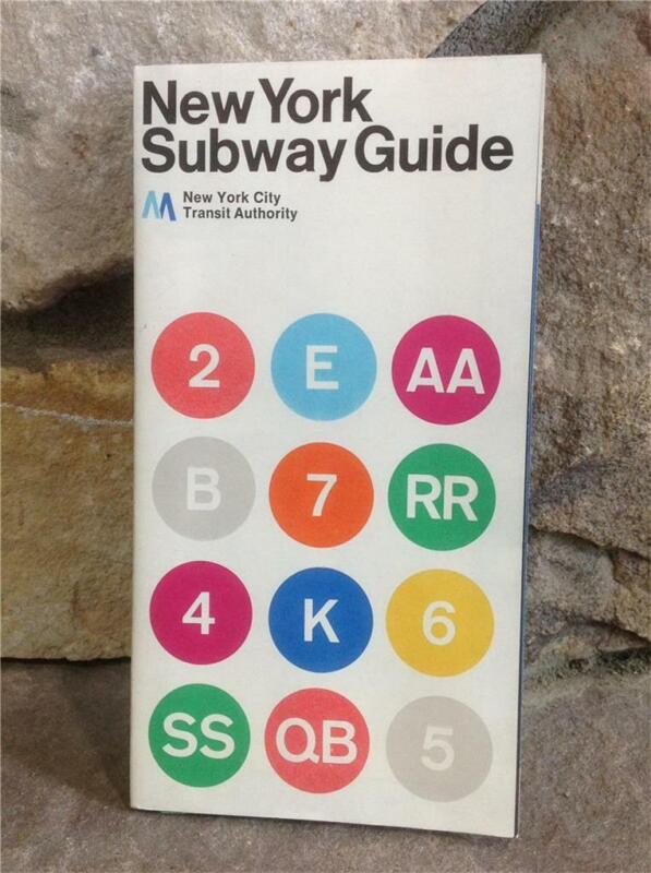 One Vintage NY City New York 1972 (2) Subway Guide *Look at this Condition*