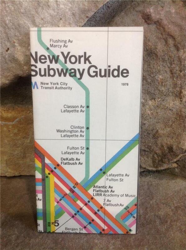 VINTAGE NY 1978 NEW YORK CITY SUBWAY GUIDE MAP NYCTA (Revised-1972)