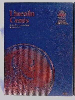 Whitman Lincoln Cents  1 1909 1940 Coin Folder  Penny Album Book  9004