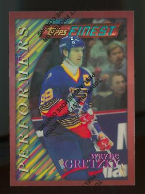 1996 Topps Finest Performers Refractor With Coating #5 Wayne Gretzky