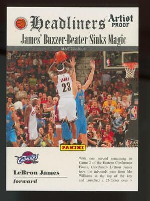 2009 Panini Headliners Artist Proof #7 LeBron James 172/199