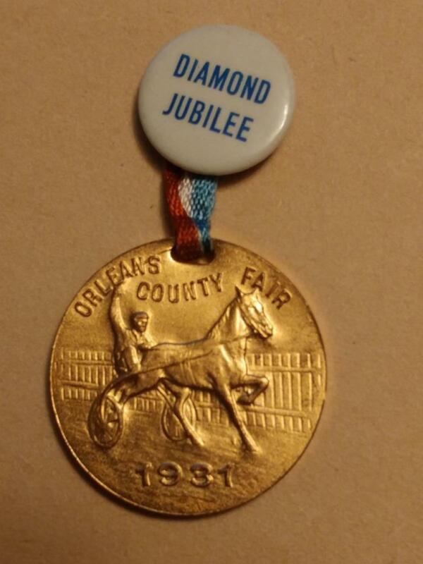 1234----1931 Orleans County Fair (NY) 75th anniversary medallion