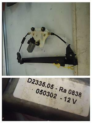 2002 ALFA ROMEO 156 PASSENGERS LEFT FRONT WINDOW MOTOR REGULATOR D233505RA0838