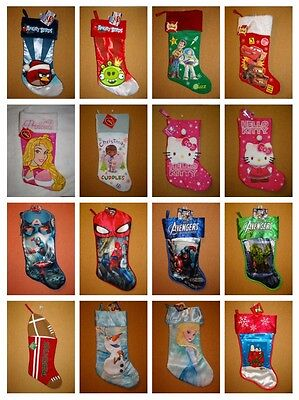 Character Christmas Holiday Stockings Brand New With Tags