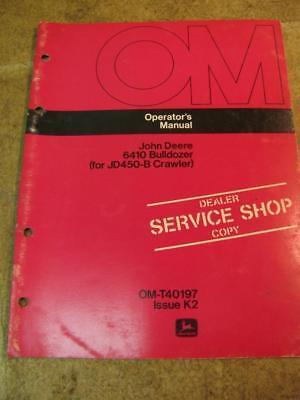 John Deere 6410 Bulldozer For 450b Crawler Operators Manual
