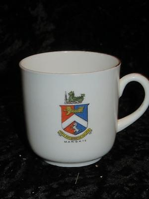 Vintage Crested Ware Bone China Tea Cup MARGATE Crest Sampson Smith 1920s