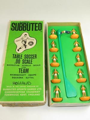 SUBBUTEO TABLE SOCCER C.100 LW TEAM 13 Holland Blackpool Type 7a Box 1977