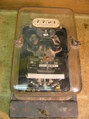 Vintage Westinghouse Ob Polyphase Watthour Electric Meter Square 3 Phase Unusual
