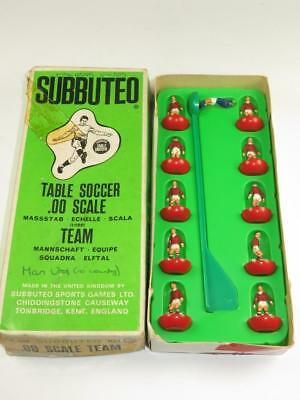 SUBBUTEO TABLE SOCCER C.100 HW TEAM 100 Manchester Utd Type 7a Box 1975-76