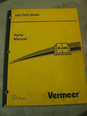 Vermeer 404 Pro Round Baler Parts Catalog Manual
