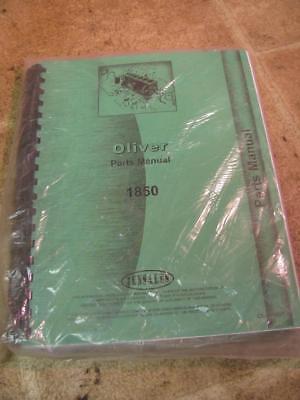 Reprint Oliver 1850 Tractor Parts Catalog Manual