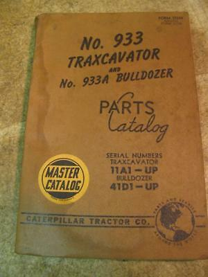 Caterpillar Cat 933 Traxcavator 933a Bulldozer Parts Catalog Manual