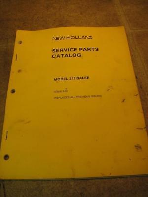 New Holland 310 Baler Service Parts Catalog Manual