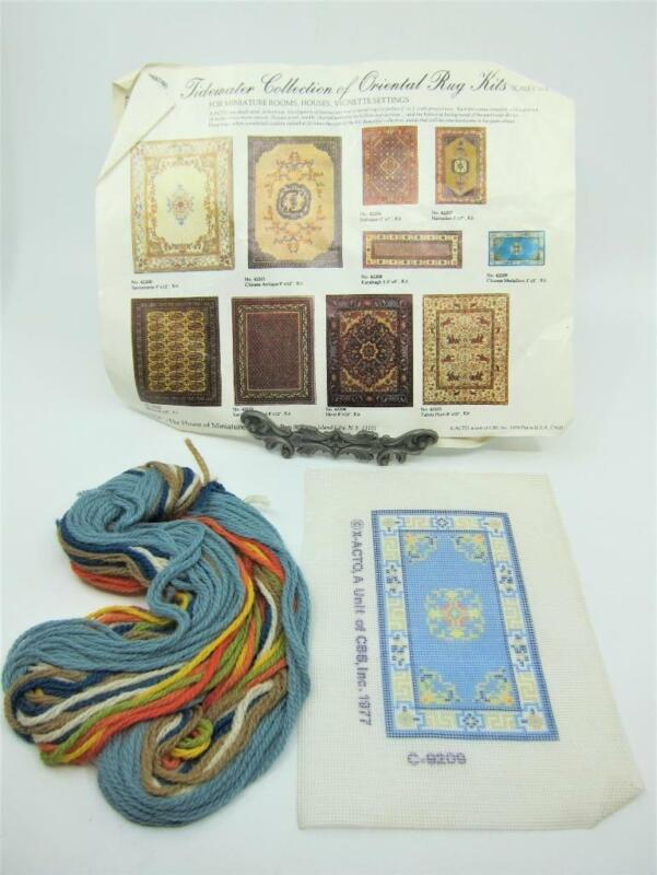 House Miniatures CHINESE MEDALLION Tidewater Coll. Needlepoint Rug Kit Dollhouse