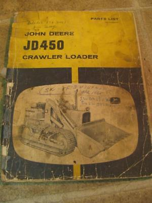 John Deere 450 Crawler Loader Parts List Catalog Manual Plt23811t