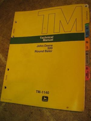 John Deere 500 Round Baler Technical Service Manual Tm1140