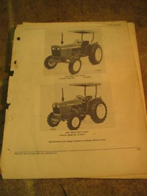 John Deere 950 Tractor Parts Catalog Manual Pc1640
