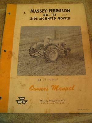 Massey Ferguson No 135 Side Mounted Mower Sickle Bar Owners Operators Manual