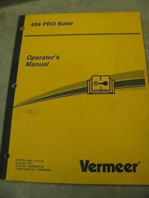 Vermeer 404 Pro Round Baler Operators Manual