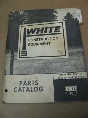 White 2-63fl Forklift Parts Catalog Manual