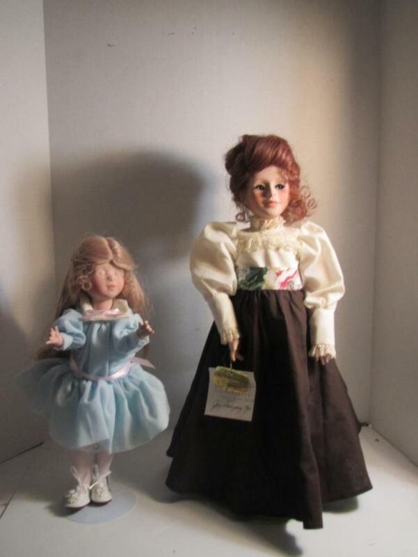 AUTHOGRAPHED by Jan Nahrgang Collection Dolls HELEN KELLER & TEACHER - L@@K!!