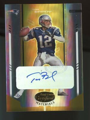 2004 Leaf Certified Mirror Gold #71 Tom Brady 07/10 Auto Autograph