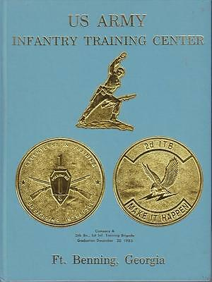 1985 US ARMY FT BENNING GA TRAINING 5th BATTALION 1st INFANTRY Co A BOOK HC VGC